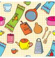 kitchen wallpaper vector image vector image