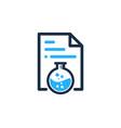 lab document logo icon design vector image