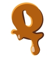 Letter Q from caramel icon vector image vector image