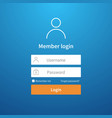 login form website ui account screen page vector image