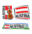 logo for austria vector image vector image