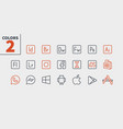 logos ui pixel perfect well-crafted thin vector image vector image