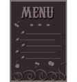 Menu in chocolate tones vector image vector image