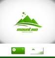 Mountain peak tourism holiday logo vector image vector image