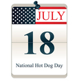 National Hot Dog Day vector image vector image