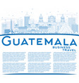 outline guatemala skyline with blue buildings and vector image vector image
