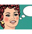 Pop Art of girl with the speech bubblePop Art girl vector image vector image