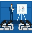Public People Speaking From Podium Poster vector image