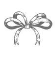 ribbon bow hand drawn doodle vector image vector image