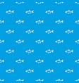 rudd fish pattern seamless blue vector image vector image