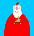 santa claus isolated merry christmas grandfather vector image