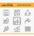 sauna theme icon set vector image vector image