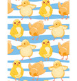 seamless pattern with cute cartoon yellow chicken vector image vector image