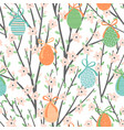 seamless pattern with easter eggs and vector image