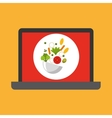shopping online concept order healthy food vector image vector image