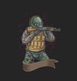 soldier full armor combat vector image