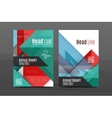 squares and triangles annual report cover template