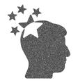 Stars Hit Head Grainy Texture Icon vector image vector image