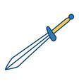 sword medieval weapon vector image vector image