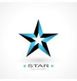 symbol of star vector image vector image