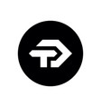 td or dt initial logo minimal icon design vector image vector image