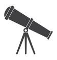 telescope silhouette vector image vector image