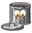 Trash can with emotion vector image