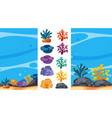 underwater scene with coral reefs vector image vector image