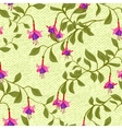 Vintage wallpaper seamless pattern with fuschia vector image vector image