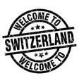 welcome to switzerland black stamp vector image vector image
