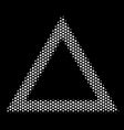 white pixelated contour triangle icon vector image vector image