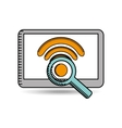 wifi connection design vector image