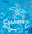 written inscription with a brush lettering summer vector image