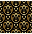 Gold ornament in victorian style vector image