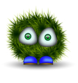green shaggy creature vector image