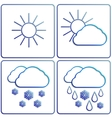 abstract winter day weather flat image set vector image