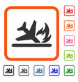 airplane landing crash framed icon vector image vector image