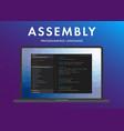assembly programming language vector image vector image