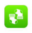 baby socks icon digital green vector image