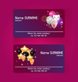 ballooon business card celebrating birthday vector image vector image