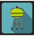 Barbecue icon flat style vector image vector image