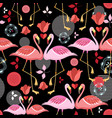 beautiful pattern lovers flamingos vector image vector image