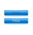 blue button faqs active and normal vector image vector image