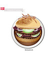 bofsandwich or ground beef hamburger the national vector image vector image