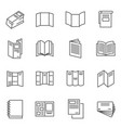 booklet blank brochure thin line icons set vector image