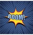 Boom comic cartoon wording vector image