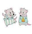 cartoon mice vector image