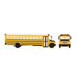 cartoon of school bus vector image