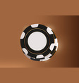 casino background chips top view of black and vector image vector image