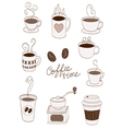 coffee items vector image vector image